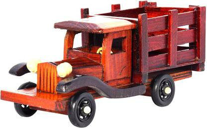 Eco Friendly Wooden Hand made Wooden Truck Vintage Classic Vehicle Car Toy